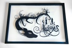 Always Snape and Lily - Harry Potter silhouette handcut paper craft by willpigg on Etsy