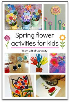 8 spring flower activities for kids from crafts to sensory play to science! #handsonlearning || Gift of Curiosity