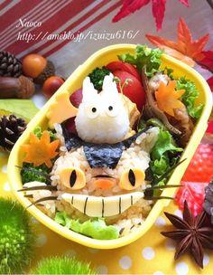 ネコバスと小トトロの秋【キャラ弁】 の画像|Naocoのキャラ弁日記