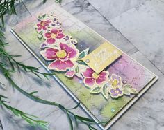 Loose Watercolouring with Pinkfresh Studio's Floral Notes Gold Water, Flower Spray, Color Blending, I Fall In Love, To My Daughter, Card Making, Happy Birthday, Notes, Colours