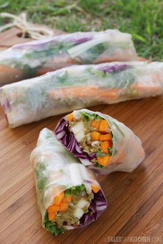red cabbage avocado rolls
