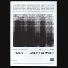 Love It If We Made It Lithograph + Digital Album – The 1975 Official Store The 1975 Poster, The 1975 Wallpaper, How To Get Money, How To Make, Music Wall, Band Posters, Album, Poster Wall, Aesthetic Wallpapers