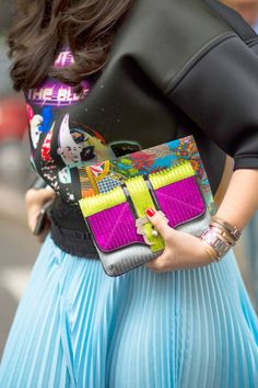 Bright extras in Milan #streetstyle