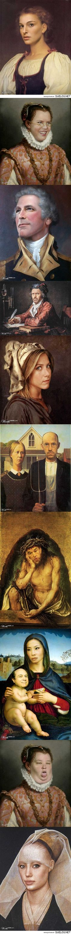 Classic paintings redone with celebrity faces - 2