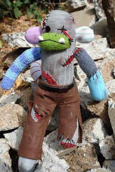 Zombie Sock Monkey-for Brandy