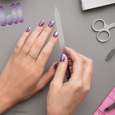 The purple and silver ombre wrap, 'Grapevine' with its striking zig-zag design is sure to impress.