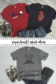 Get ready for the big game with these fun shirt ideas from Everyday Party Magazine and @Cricut #AD #Football #DIYShirt #BigGame