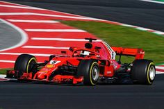 Sebastien Vettel powering the 2018 Ferrari SF-71H through it's paces on the seventh day of preseason testing in Barcelona.  Ferrari, Red Bull, and Mercedes are in a class by themselves, with  no clear winner in testing.  We'll have to wait for the Aus GP to see if there's a clearly  superior car!  #F1 #Formula1 #ScuderiaFerrari #SF71H #SebVettel #Seb5