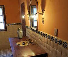 Attirant Mexican Bathroom Design Great Choice To Realize A Beautiful ... Mexican  Style
