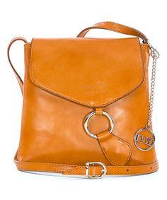Look at this #zulilyfind! Tan O-Ring Leather Crossbody Bag #zulilyfinds