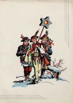 Vintage Polish Christmas Card