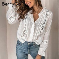 Cotton Blouses, Shirt Blouses, Lace Shirts, Cotton Shirts, White Shirts, Outfit Trends, Ruffle Shirt, Short Tops, Casual Tops