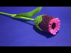 How to make 3D origami a Wonderful Flower Thistle Tutorial - YouTube
