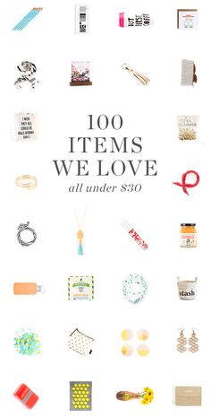 100 items under $30!