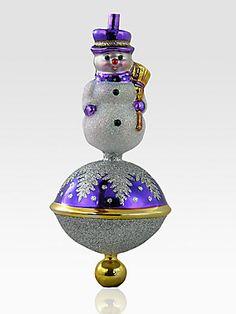 Christopher Radko Littlest Snowman Ornament #Saks #givingsaks