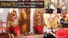 How To Make A Tomato Cage Christmas Tree