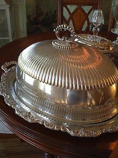 silver-plated hotel turkey platter and dome ~ would love to serve turkey on this at Thanksgiving!