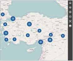 I chose this map because it shows the refugee camps in Turkey ....
