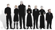 Dragon Age,Alistair,Leliana,Sten,Morrigan,Zevran,Wynne,Oghren crossover,Ghost in the Shell,