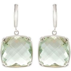 Sterling silver and genuine green quartz earrings. Find them at a jeweler near you: www.stuller.com/locateajeweler