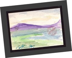 """ACEO """"Paddock at Canada Larga"""" 2007 Contemporary Art Landscape PAINTING SIGNED  