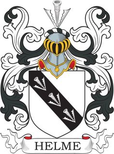 Helme Family Crest and Coat of Arms