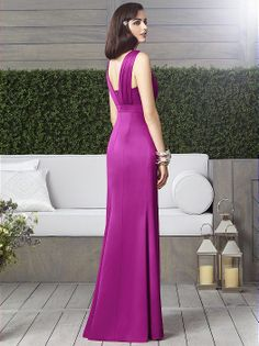 Dessy spring 2014 bridesmaid dress collection style Full length sleeveless empire waist renaissance dress w/ scoop neck and rhinestone bow medallion detail at back. Mob Dresses, Girls Dresses, Dresses 2016, Dessy Bridesmaid Dresses, Bridesmaids, Dresser, Mother Of The Bride Gown, Wedding Flower Girl Dresses, Bride Gowns