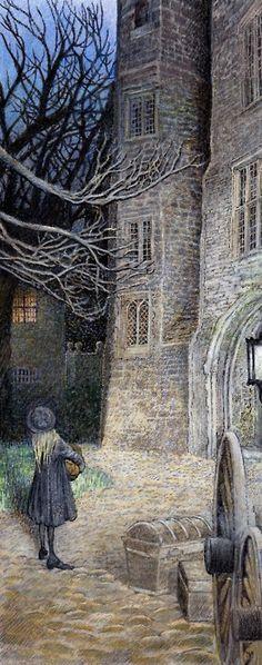 I love illustrations in children's books - this is enchanting!  Inga Moore ~ The Secret Garden