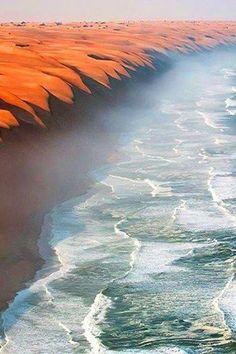 Where the Namib Desert meets the Atlantic Ocean! ~by Roberto Moiola