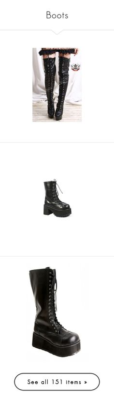"""""""Boots"""" by bleeding-black-blood ❤ liked on Polyvore featuring shoes, boots, laced up boots, combat boots, lace-up boots, military boots, gothic boots, ankle booties, black patent boots and lace-up ankle booties"""