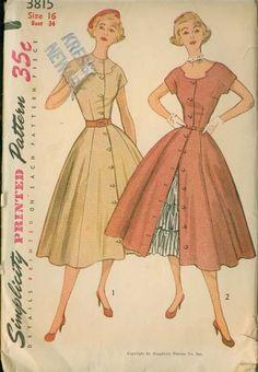 1950s Vintage Dress Pattern