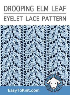 Easy Eyelet Lace Knitting Pattern