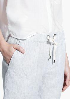 Pantalón baggy lino