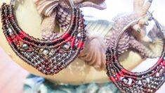 {CRAFT} Micro Macrame Hoop Earrings with beads