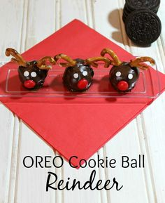 Outnumbered 3 to 1: OREO Cookie Ball Reindeer
