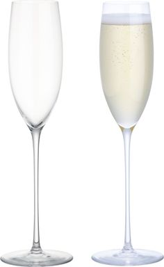Handcrafted flute rises to the occasion on elongated slender stem to serve champagne and other sparkling drinks. Handmade glassFire-polished rimPulled stemHand washMade in Slovakia.