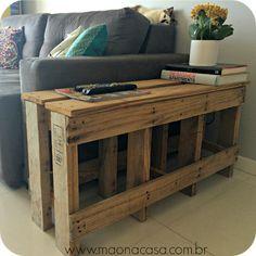 DIY: Banco (ou mesa) de pallet, rústico e original! - Mão de Obra