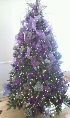 CHRISTMAS TREE~ PURPLE CHRISTMAS TREE*゚❄∘*