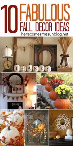 10 Fabulous Fall Decor Ideas for your home via herecomesthesunblog.net