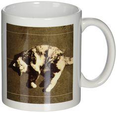 3dRose Calico Cat on Side Ceramic Mug, 11-Ounce * For more information, visit now : Cat mug