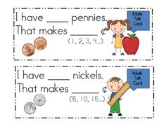 Here's a fun skip counting game with money. Includes counting by 1s, 5s, and 10s.