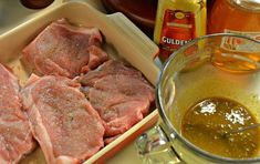 **** TONY LIKES*****Easy Honey Mustard Pork Chops are a quick and easy recipe that can be grilled or baked. Pork Loin Steak Recipes, Easy Pork Chop Marinade, Oven Baked Pork Ribs, Bbq Pork Loin, Ribs Recipe Oven, Barbecue Pork Ribs, Marinated Pork Chops, Easy Pork Chop Recipes, Baked Pork Chops