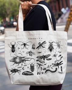 • • • • • Gift Option • • • • • Add A Gift Box for $5.95 Wings! Stingers! Pincers! Antennae! Cocoons! This tote bag celebrates the most diverse and plentiful group of creatures on the planet – the mor