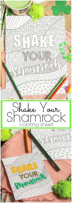 This Free St Patricks Day Printable Is An Adult Coloring Page That A Great Activity Or Favor To Go With Your Shamrock Shake
