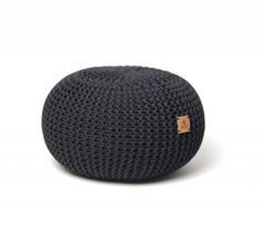 Ručně pletený puf 033 černý 45 cm Nordic Living, Knitting, Inspiration, Biblical Inspiration, Tricot, Breien, Knitting And Crocheting, Crochet, Cable Knitting
