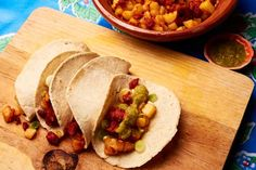 Potato and chorizo tacos - mexicanfoodjournal.com