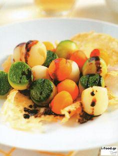 Χάντρες λαχανικών με βασιλικό και βαλσάμικο - Συνταγή i-Food.gr by Giorgio Spanakis