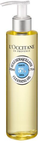 L Occitane Shea Cleansing Oil-NO COLOUR-200 ml Shea Butter Oil, Occitane En Provence, Celebrity Skin, Waterproof Makeup, Cleansing Oil, Cleanser, Soap Dispenser, Face And Body, Natural Skin Care