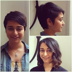 A dramatic hair extension before and after yes you can apply hair short hair before and after pixie cut pmusecretfo Image collections