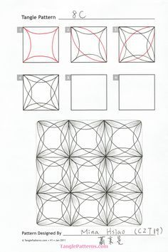8c ~ Zentangle tangle by Mina Hsaio CZT19